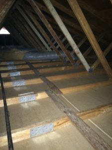 Attic restoration - After insulation extraction