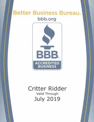 Critter Ridder BB Accreditation